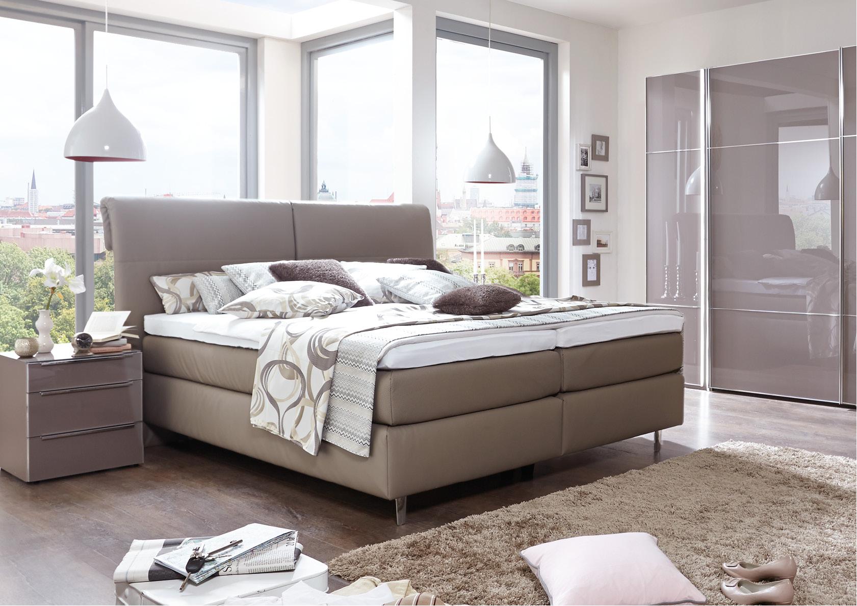 boxspringbett mit kopfteil no 3 mit keder bovelet in bornheim hersel. Black Bedroom Furniture Sets. Home Design Ideas